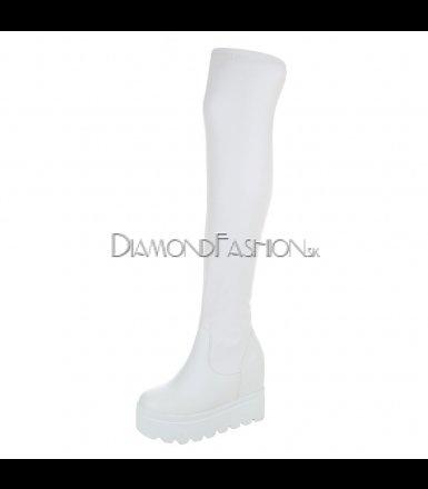bf42b6a6a0 Biele čižmy nad kolená