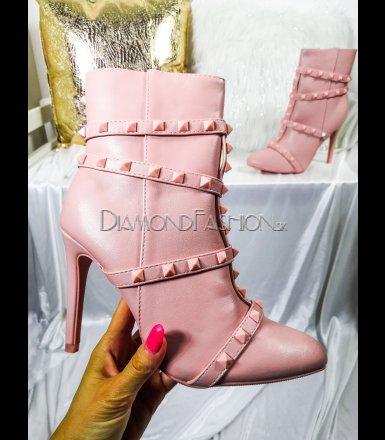 d175b3be74ec Ružové kotníčky Valentino style