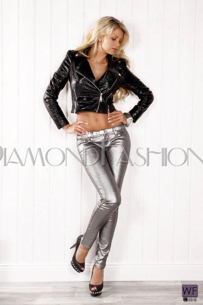 385ef5fca4de Metalické Jeans REDIAL s opaskom