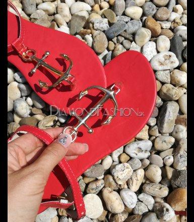 c63f83398d47 Sandále so zlatou kotvou